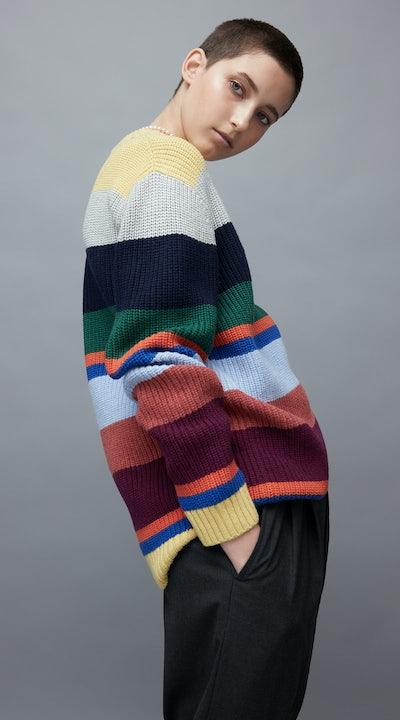 KULE- Model Wearing The Cole in Stripes .