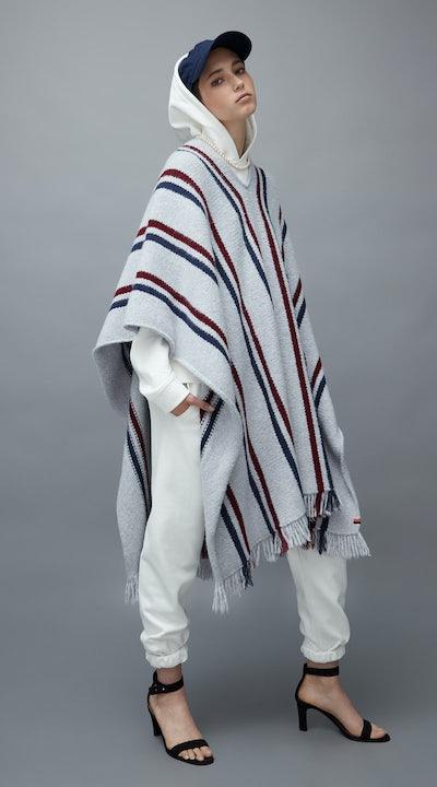 KULE- Model wearing The Ojai Poncho.